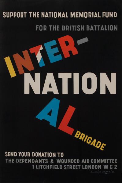 International Brigade National Memorial Fund Poster