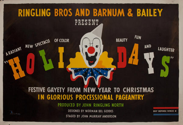 Ringling Bros and Barnum & Bailey Present Holidays WWII Circus Poster