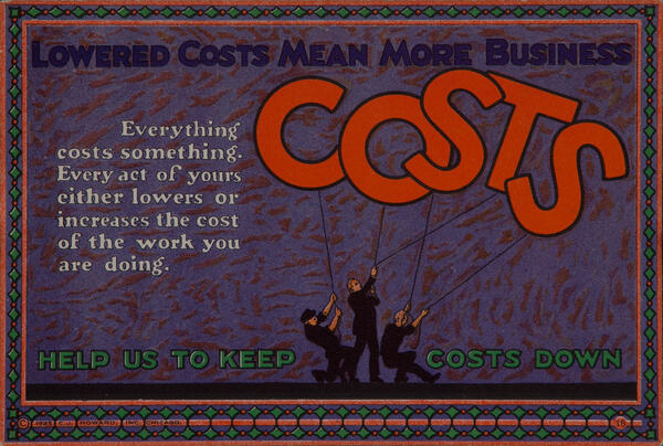 C J Howard Work Incentive Card #15 - Lowered costs means more business