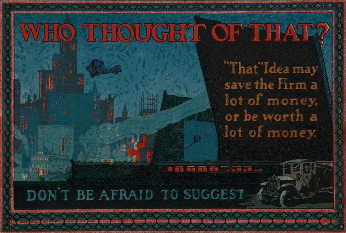 C J Howard Work Incentive Card #5 Who thought of that, Don;t be afraid to Suggest
