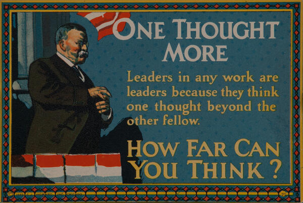 C J Howard Work Incentive Card #21 One More Thought, How far can you think?