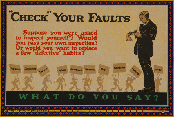 C J Howard Work Incentive Card #32 - Check Your Faults, What do you say?