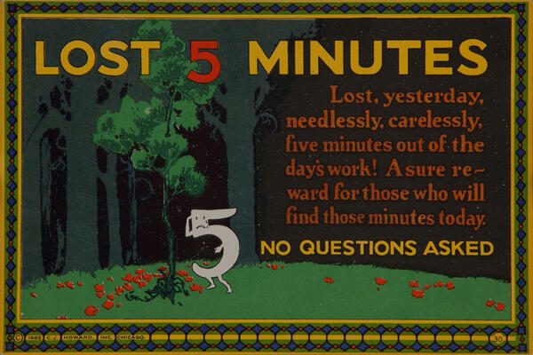C J Howard Work Incentive Card #30 - Lost 5 Minutes