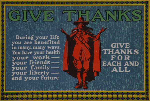 C J Howard Work Incentive Card #52 - Give Thanks