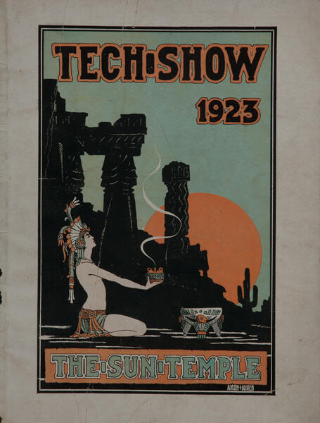 Massachusetts Intitute of Technology MIT Tech Show Playbill 1923 The Sun Temple