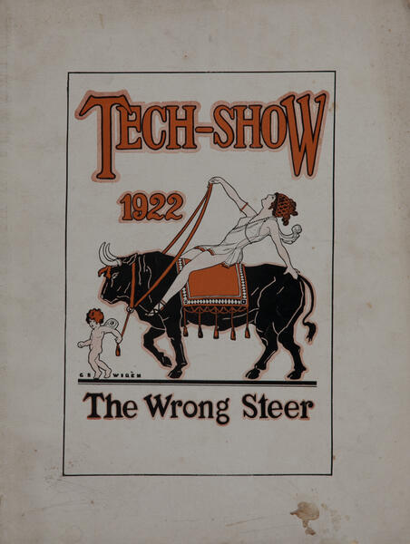 Massachusetts Intitute of Technology MIT Tech Show Playbill 1922 the Wrong Steer