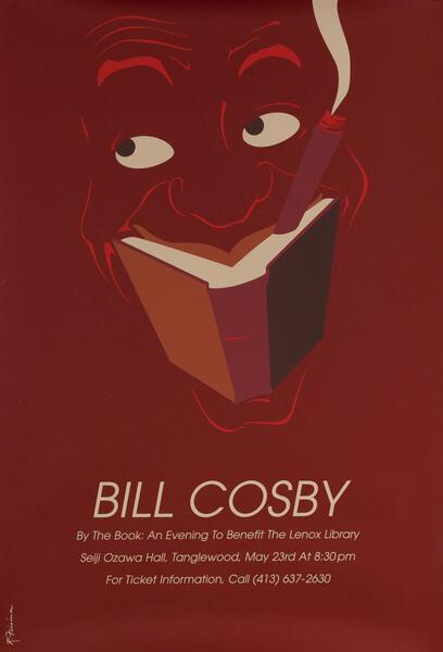 Bill Cosby Lenox Massachusetts Library Benefit Poster