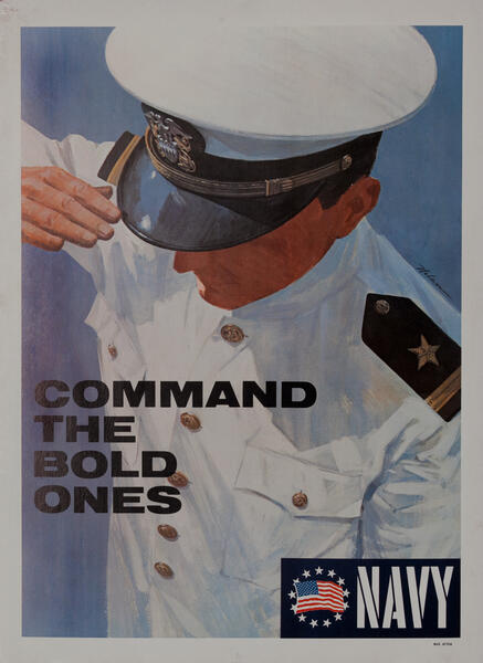 Command the Bold Ones Navy - Vietnam War Recruiting Poster