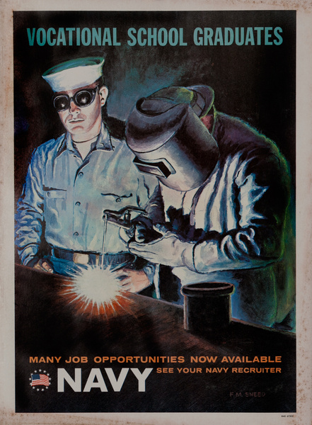 Vocational School Graduates, Vietnam War Navy Recruiting Poster