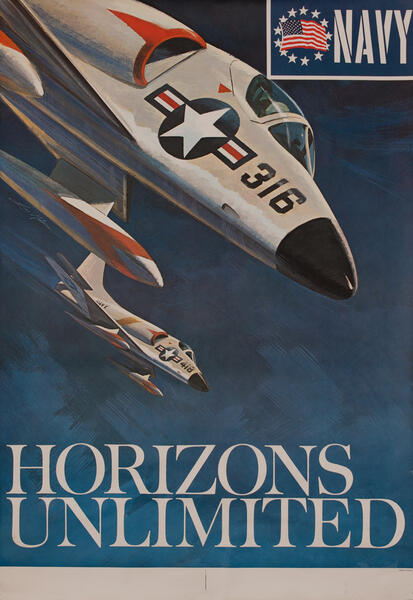 Vietnam War Recruiting Poster, U.S. Navy, Horizons Unlimited