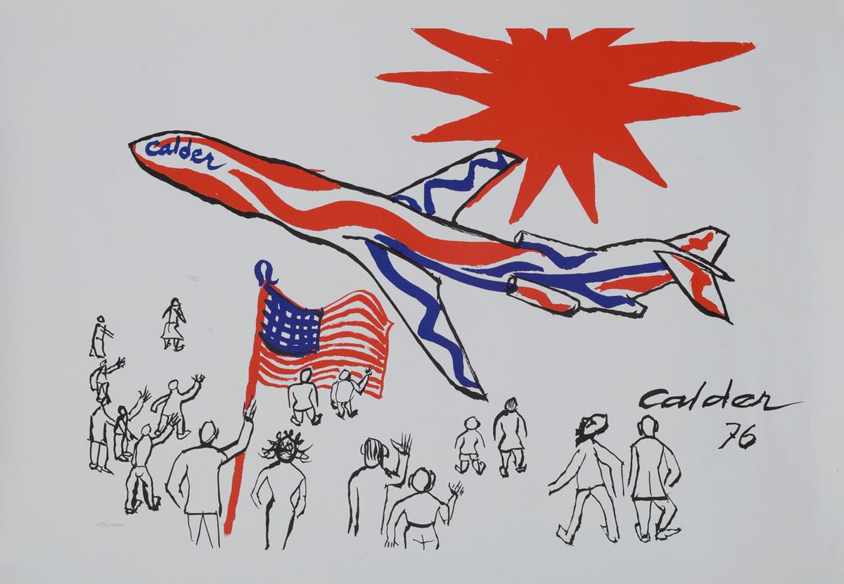 Braniff Advertising Poster 1976 Bicentenial Calder