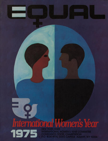 Equal - International Woman's Year 1975 Poster