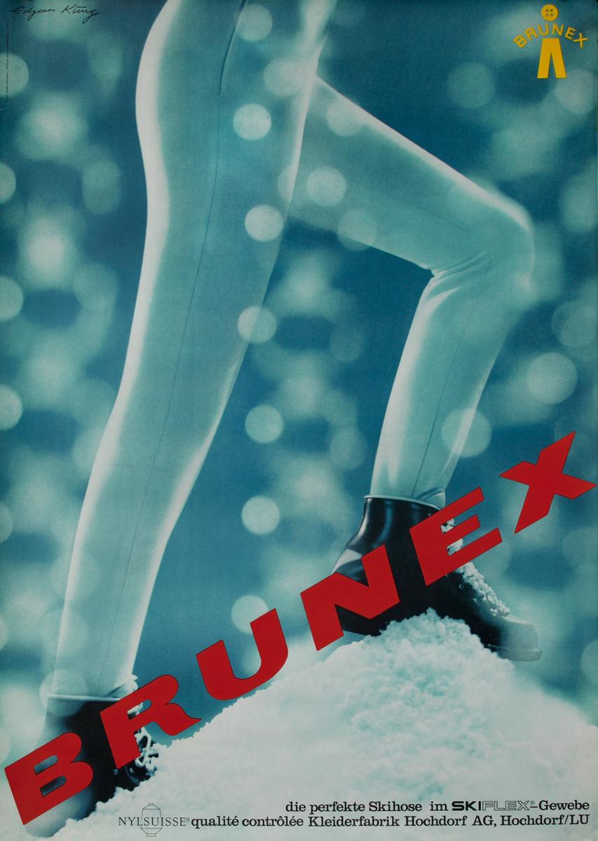 Brunex Ski Pants Advertising Poster
