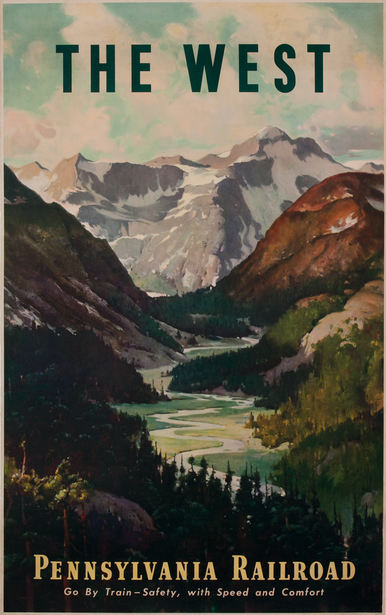 The West - Pennsylvania Railroad Travel Poster
