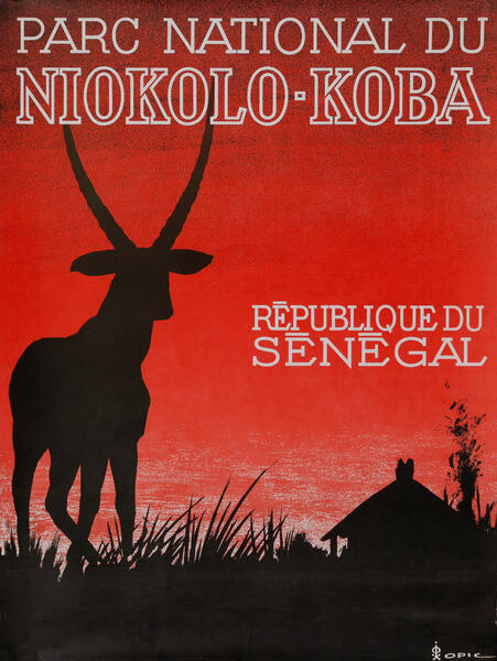 Parc National du Niokolo-Koba Senagal Travel Poster