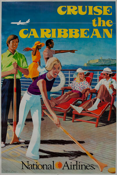 National Airlines Travel Poster Cruise the Caribbean