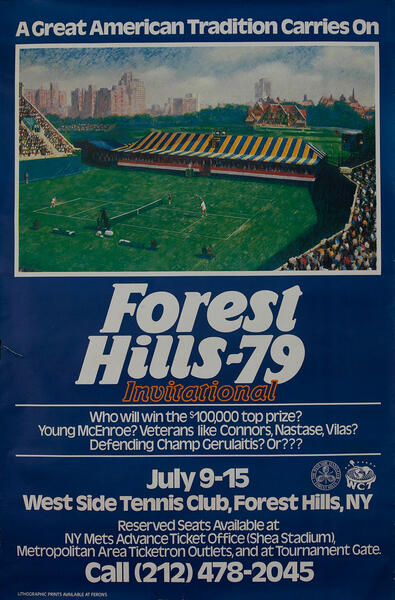 Forest Hills -79 International, New York Tennis Tournament Poster