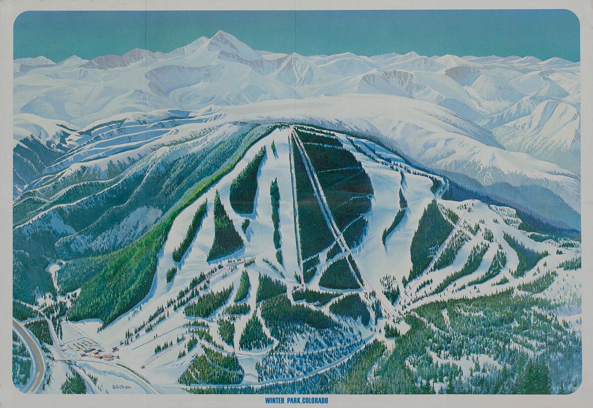 Winter Park Colorado Ski Trail Poster