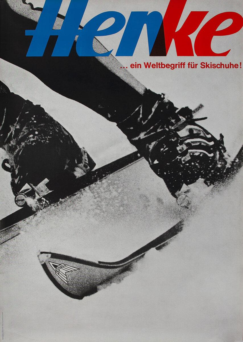 Henke Swiss Ski Adverising Poster