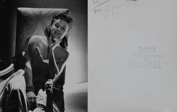 George Hurrell Celebrity Portrait Ann Sheridan
