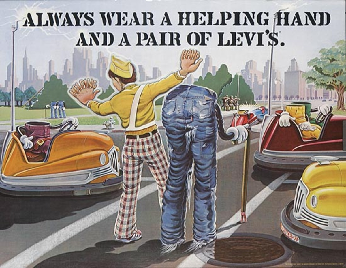 Always Wear a Helping Hand and a Pair of Levi's Pants Original Advertising Poster