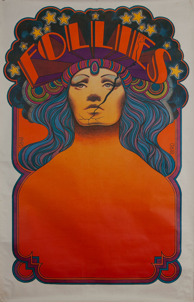 Follies, David Byrd Theater Poster, large size