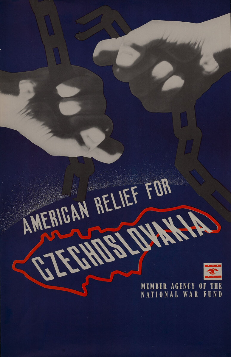 American Relief for Czechoslovakia WWII Poster