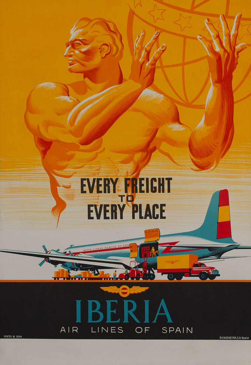 Every Freight to Every Place Iberia Air Lines of Spain