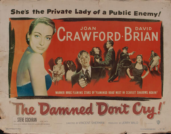 The Damned Don't Cry!  Movie Poster