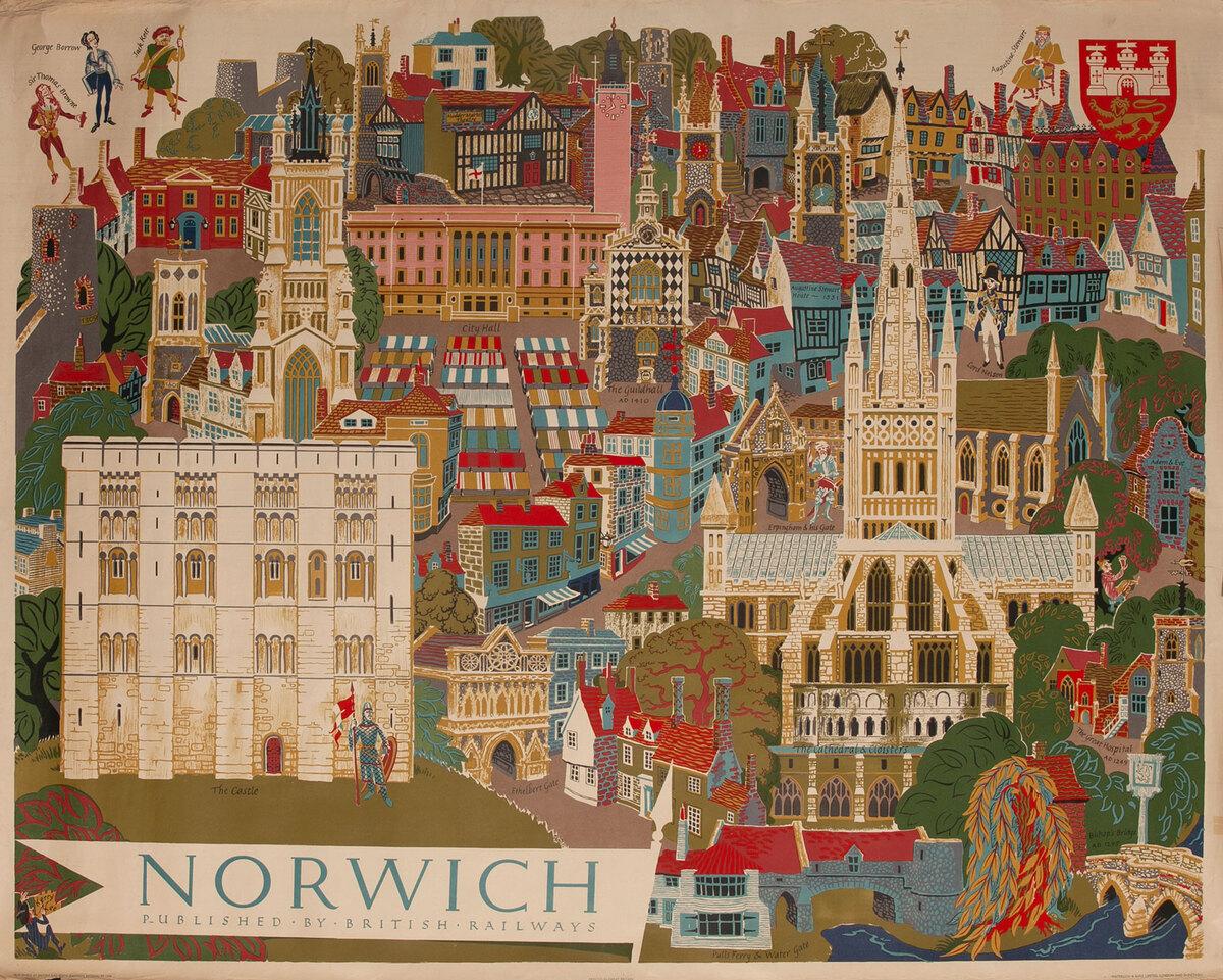 British Railways Poster -  Norwich