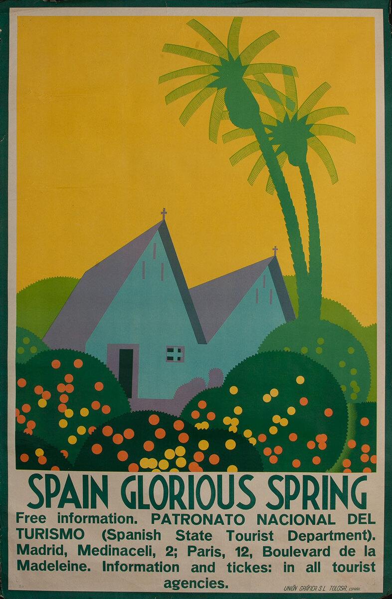 Spain Glorious Spain, Original Art Deco Travel Poster