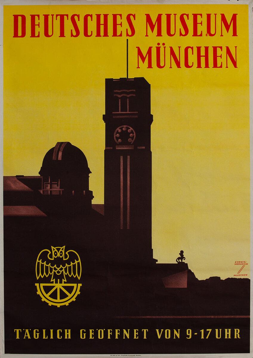 Deutsches Museum München German Travel Poster