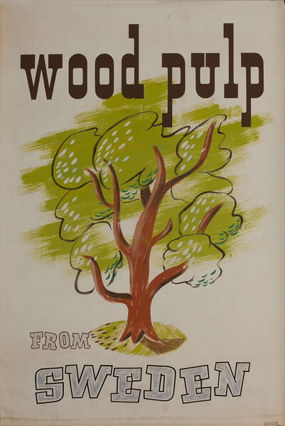 Wood Pulp from Sweden,  1939 San Francisco World Trade Fair Poster
