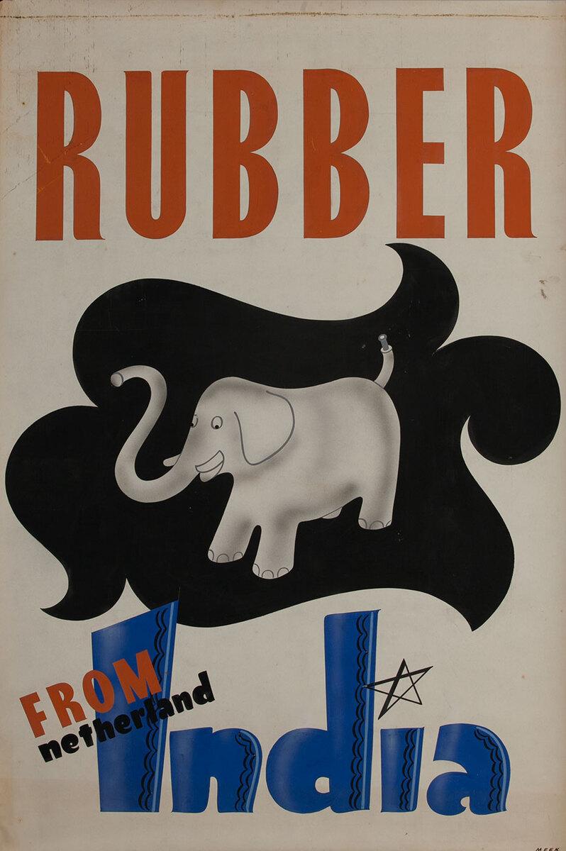 Rubber from India,  1939 San Francisco World Trade Fair Poster