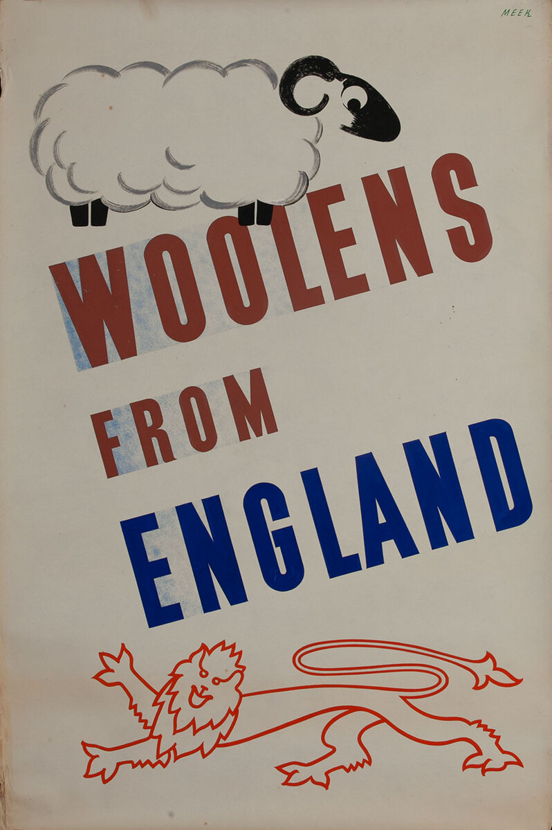 Woolens from England, 1939 San Francisco World Trade Fair Poster