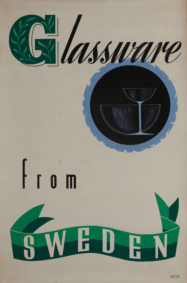 Glassware from Sweden,  1939 San Francisco World Trade Fair Poster