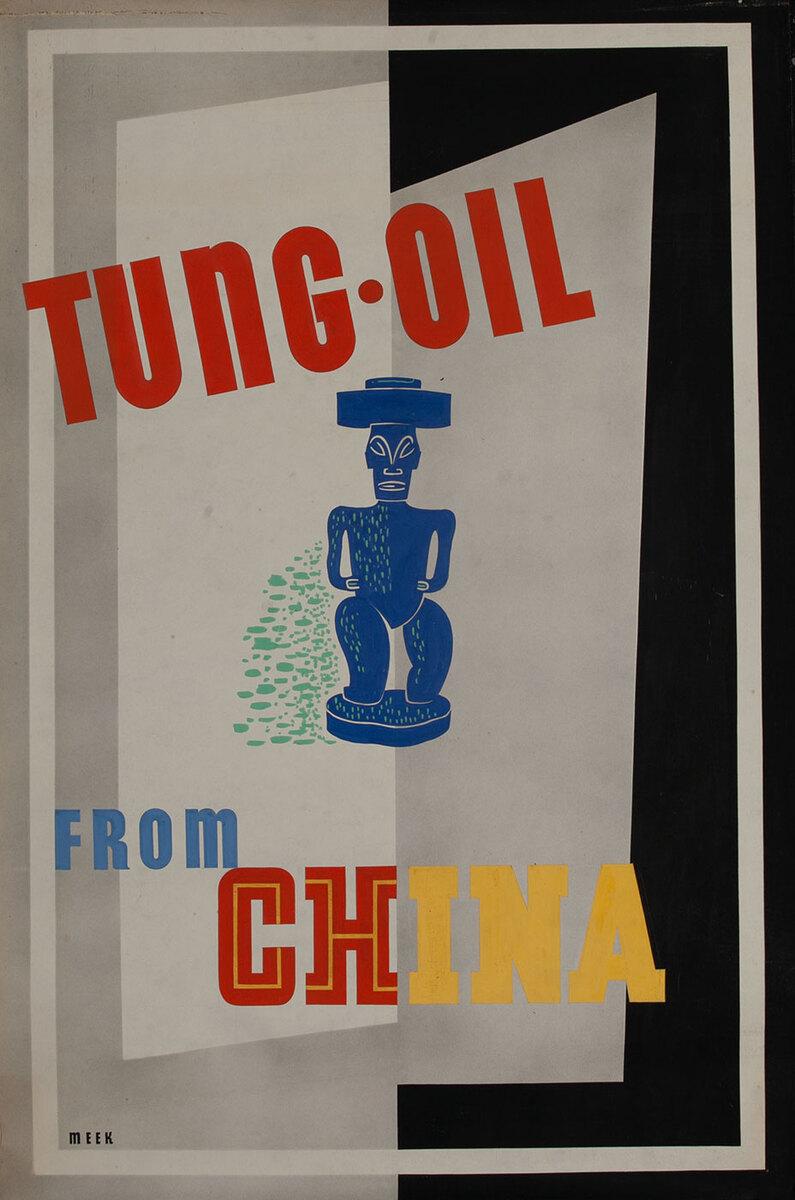 Tung Oil from China,  1939 San Francisco World Trade Fair Poster