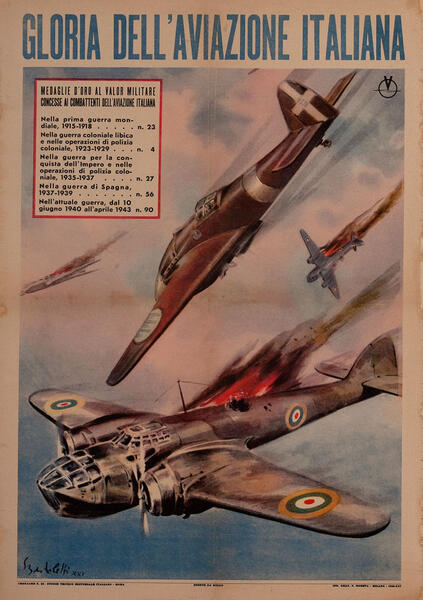 Glory of Italian Aviation WWII Poster