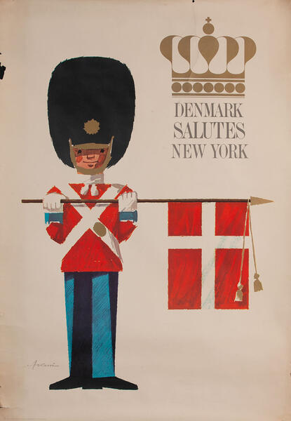 Denmark Salutes New York Travel Poster
