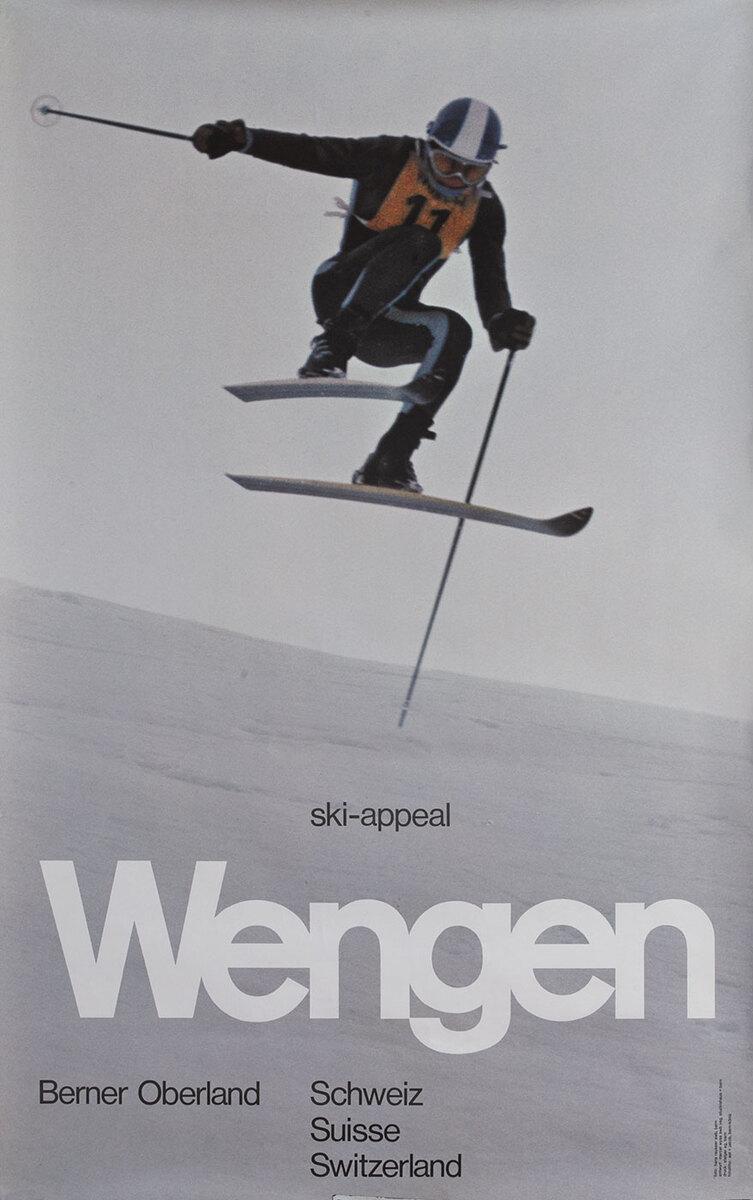 Wengen Switzerland Travel Poster ski-appeal
