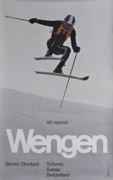 Wengen Switzerland Travel Poster ski-appeal