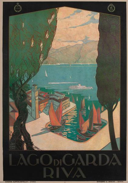 Lago di Garda Riva, Italian ENIT Travel Poster