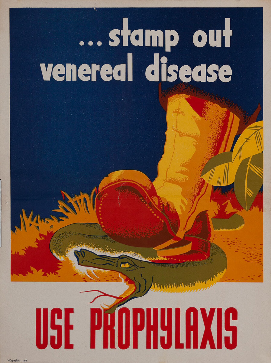 ..stamp out venereal disease  Usa Prophylaxis VDgraphic poster 48