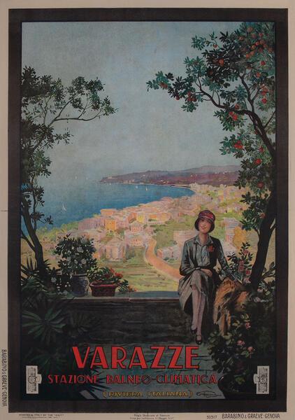 Varazze Stazione Balneo-Climatica ENIT Italian Travel Poster
