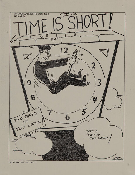 Time is Short, Take a Pro in Two Hours. WWII V-D Poster