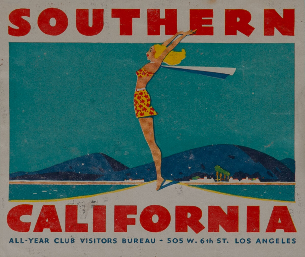 Southern California Luggage Label