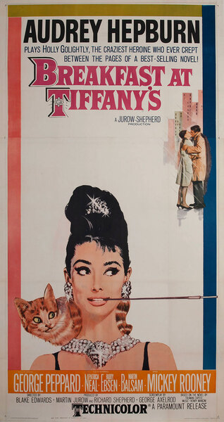 Breakfast at Tiffany's Original 3 Sheet Movie Poster