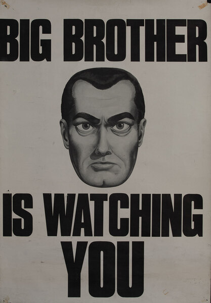 Big Brother is Watching YOU, Protest poster