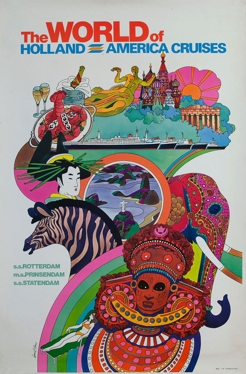The World of Holland America Cruises Travel Poster