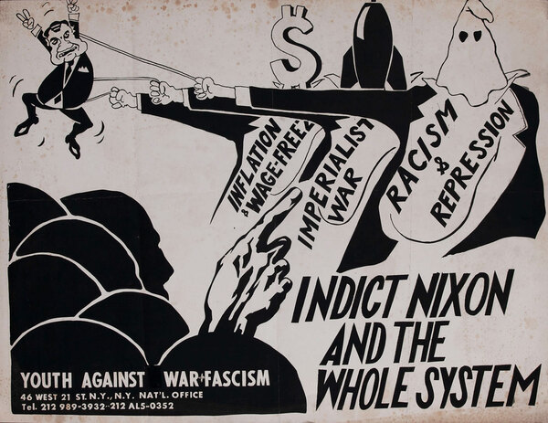Indict Nixon and the Whole System Protest Poster